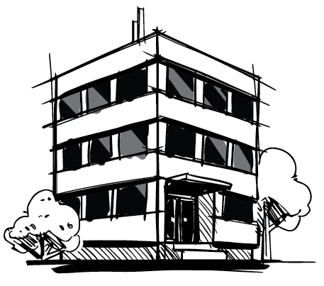 commercial building graphic